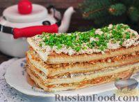 Фото к рецепту: Закусочный торт с консервированной рыбой