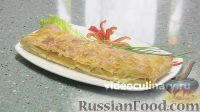 Фото к рецепту: Пирог из слоеного теста, с сыром
