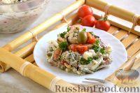 Фото к рецепту: Салат с маринованными мидиями