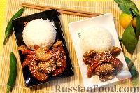 Фото к рецепту: Свинина с мандаринами, по-азиатски