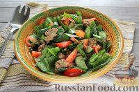 Фото к рецепту: Салат со шпинатом и тунцом