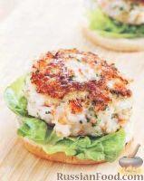 Фото к рецепту: Бургер с креветками