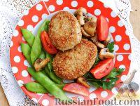 Фото к рецепту: Котлеты из курицы и свинины, в овсяной панировке