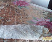 Фото приготовления рецепта: Быстрые пирожки из лаваша с мясом - шаг №6