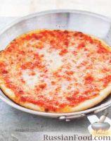 Фото к рецепту: Простая пицца с сыром