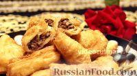 Фото к рецепту: Жареные пирожки из слоёного теста, с мясом