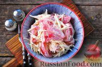 Фото к рецепту: Салат из помидоров, яблок и сыра