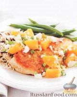 Фото к рецепту: Куриное филе с апельсинами и фетой