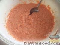 Фото приготовления рецепта: Морковные оладьи с манкой и яблоком - шаг №3