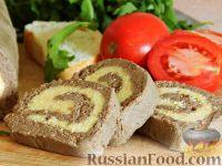 Фото к рецепту: Рулет из куриной печени, с сыром