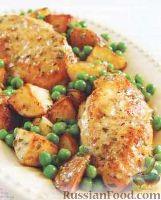Фото к рецепту: Курица с картофелем