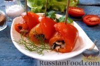 Фото к рецепту: Рулетики из перца с тунцом
