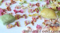 Фото к рецепту: Разноцветные фарфалле (паста в виде бабочек)