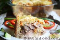 Фото к рецепту: Мясная запеканка с хлебом
