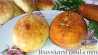 Фото к рецепту: Пирожки из творожного теста (в духовке и на сковороде)