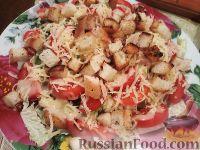 Фото к рецепту: Салат с курицей, помидорами и сыром