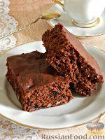 Фото к рецепту: Брауни с грецкими орехами