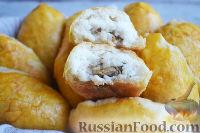 Фото к рецепту: Пирожки с рисом и сушеными грибами