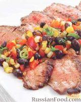 Фото к рецепту: Стейк с овощным салатом