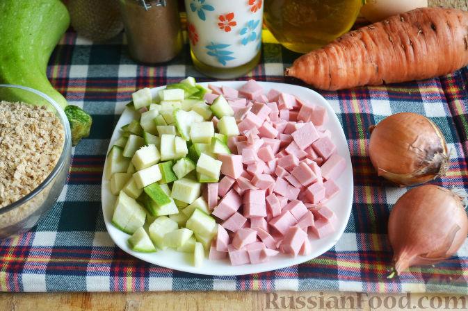 Фото приготовления рецепта: Новогодний салат «Календарь» - шаг №2