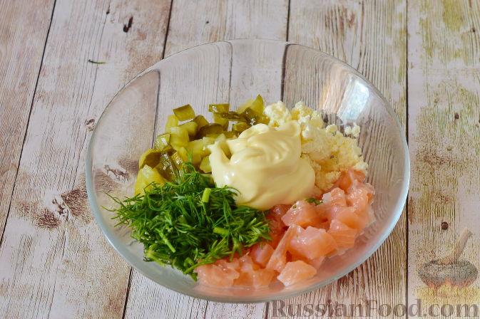 Фото приготовления рецепта: Закуска из картофеля и семги - шаг №6
