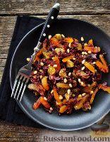 Фото к рецепту: Салат из дикого риса с сухофруктами