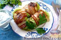 Фото приготовления рецепта: Голубцы из пекинской капусты, с картофелем и беконом - шаг №16
