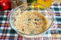Фото приготовления рецепта: Запеканка с овощами, колбасой и гречневыми хлопьями - шаг №10