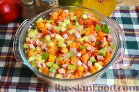 Фото приготовления рецепта: Запеканка с овощами, колбасой и гречневыми хлопьями - шаг №12