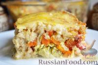 Фото приготовления рецепта: Запеканка с овощами, колбасой и гречневыми хлопьями - шаг №14