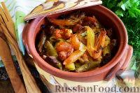 Фото к рецепту: Макароны с мясом (в горшочках)