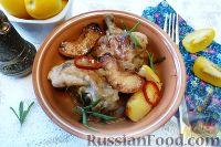 Фото приготовления рецепта: Курица с айвой, в сидре - шаг №9