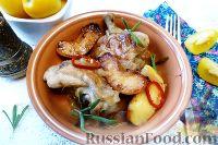 Фото к рецепту: Курица с айвой, в сидре