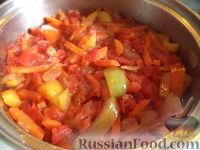 Фото приготовления рецепта: Тефтели с рисом и овощным соусом - шаг №14