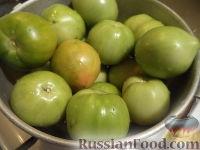 Фото приготовления рецепта: Маринованные зеленые помидоры с перцем и чесноком - шаг №1