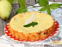 Фото к рецепту: Рисовая запеканка с творогом и грушей