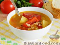 Фото к рецепту: Суп с лечо