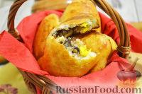 Фото к рецепту: Пирожки с гречкой, грибами и яйцом
