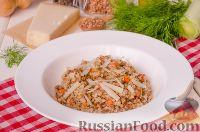 Фото к рецепту: Гречка с овощами и сыром