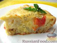 """Фото к рецепту: Наливной пирог """"Прошу к столу"""" (с мясом и овощами)"""