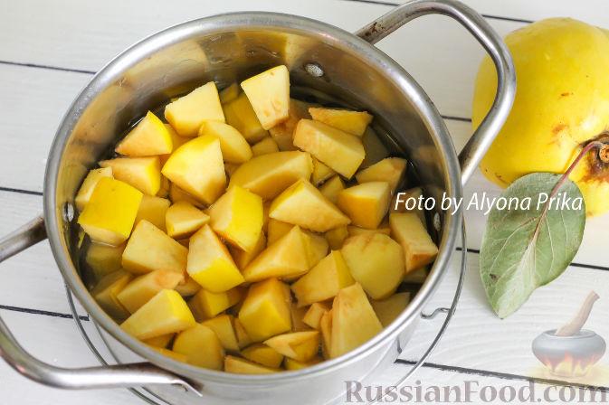 Фото приготовления рецепта: Конфитюр из айвы - шаг №4
