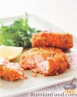 Фото к рецепту: Котлеты из лосося, с соусом тартар