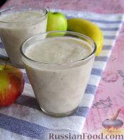 Фото к рецепту: Смузи с овсянкой и фруктами