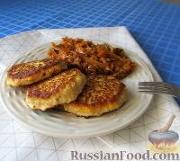 Фото к рецепту: Куриные котлеты с тыквой