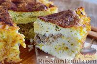 Фото к рецепту: Рисовый пирог со скумбрией