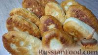 Фото к рецепту: Дрожжевые жареные пирожки с картошкой (на воде, постные)