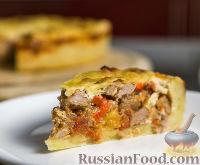 Фото к рецепту: Открытый мясной пирог