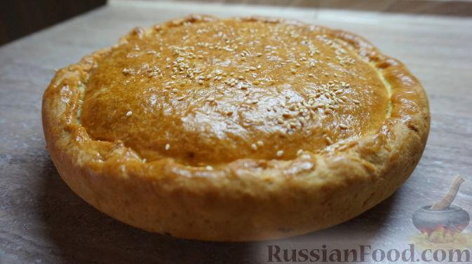 луковый пирог с плавленными сырками рецепт с фото