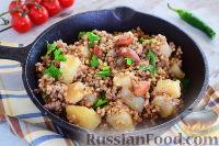 Фото к рецепту: Гречка с картофелем и специями