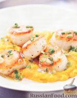 Фото к рецепту: Морские гребешки с тыквой